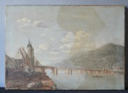 """Ferdinand Kobell """"Alte Brücke"""" mit abgenommenem Firnis, ,Foto: Kurpfälzisches Museum Heidelberg"""