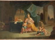 Johann Peter Trautmann, Familienszene, Tafelbild, Genre, Frankfurt am Main, 1767, Öl auf Leinwand (doubliert), Copyright: Historisches Museum Frankfurt, Fotograf: Horst Ziegenfusz