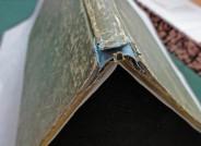 Skizzenbuch von Ludwig Metz, Ergänzungspapier und repositionierte Bezugsreste, Foto: Städel Museum, Anna Motz