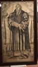 Werkstatt des Lucas Cranach, Riesenholzschnitt des Martin Luther, Zustand vor Restaurierung