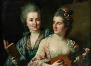 Johann Heinrich Tischbein d. Ä., Friederike Elisabeth und Wilhelmine Oeser, 1776, Öl auf Leinwand, FDH, Inv.-Nr. IV-00494; Dokumentation des Vorzustandes (Foto David Hall)