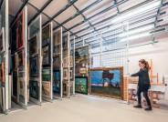 Lager- und Archivraum im Kunstmuseum im Ostseebad Ahrenshoop, Foto: Gerhard Westrich für VolkswagenStiftung