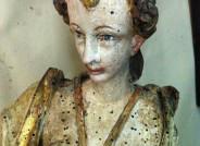 Epitaphfigur während Restaurierung, Foto: Marius Winzeler, Städtische Museen Zittau