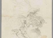 Anonym, Kunsthalle Bremen, Inv. Nr. 1941, Verso, nach Abnahme von Pappe- freigelegte Zeichnung, Die Kulturgutscanner-Rosenau
