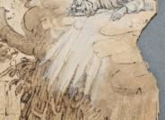 Detail vor der Restaurierung: Abraham van Diepenbeck, Christus am Ölberg, Kunsthalle Bremen, Inv. Nr. 1024f, Foto: Jutta Keddies