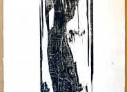 Gerhard Altenbourg, Eckenstandbild, 1959, Holzschnitt, Inv.-Nr. SGA 1-H (WV H2), Foto: Inge Grimm (Stiftung Gerhard Altenbourg)