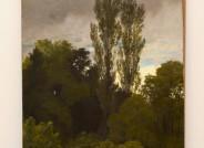 Emil Lugo, Landschaft mit Pappeln aus dem Priengrunde, 1895 Endzustand: Nach der Firnisabnahme ergibt sich wieder ein farblich homogener Gesamteindruck. © Foto: Felicitas Klein, Berlin, 2017