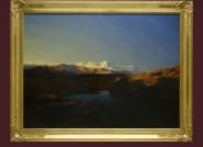 """Sammlung Schletter: """"Die Kette des Monterosa bei Sonnenaufgang"""" von Alexandre Calame, 1846, Foto: Museum der bildenden Künste Leipzig"""